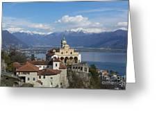 Church Madonna Del Sasso Greeting Card