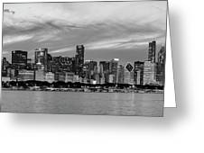 City At The Waterfront, Lake Michigan Greeting Card