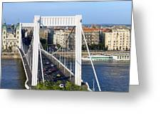 City Of Budapest In Hungary Greeting Card