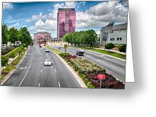 City Streets Of Charlotte North Carolina Greeting Card