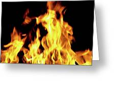 Close-up Of Fire Flames Greeting Card