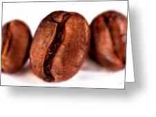 3 Coffee Beans Greeting Card