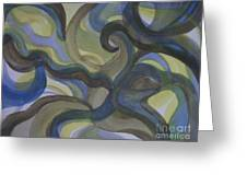 3 Color Study #3 Greeting Card
