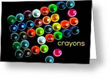 Colorful Wonderful Crayons Greeting Card