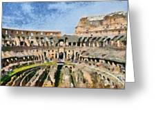 Colosseum In Rome Greeting Card