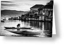 Combarro Pontevedra Galicia Spain Greeting Card