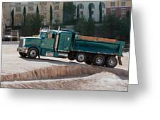 Construction Truck Greeting Card