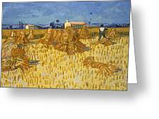 Corn Harvest In Provence Greeting Card