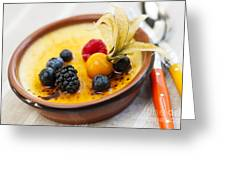 Creme Brulee Dessert Greeting Card