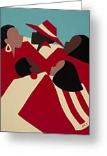 Crimson And Cream Greeting Card