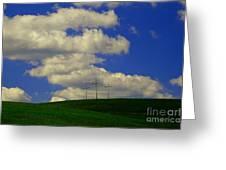 3 Cross Hill Greeting Card
