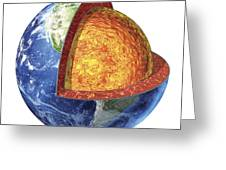 Cross Section Of Planet Earth Showing Greeting Card