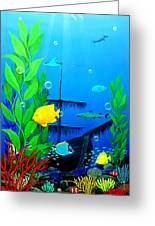 3-d Aquarium Greeting Card