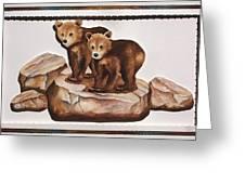 3-d Bearizona Bear Babies Greeting Card