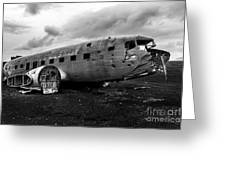 Dc-3 Iceland Greeting Card