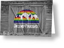 Denver Nuggets Greeting Card by Joe Hamilton