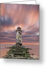 Deserted Lighthouse Greeting Card