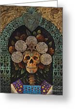 Dia De Muertos Madonna Greeting Card