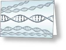 Dna Strands Greeting Card