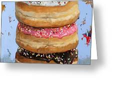 3 Donuts #2 Greeting Card