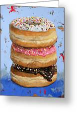 3 Donuts #2 Greeting Card
