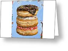 3 Donuts Greeting Card