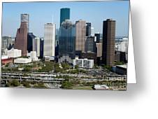 Downtown Houston Skyline Greeting Card