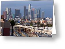Downtown Los Angeles Skyline Greeting Card