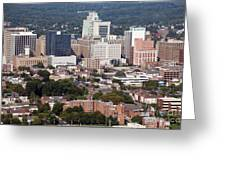 Downtown Skyline Of Wilmington Greeting Card