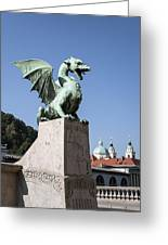 Dragon Bridge. Ljubljana. Greeting Card