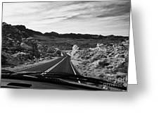 Driving Along The White Domes Road In Valley Of Fire State Park Nevada Usa Greeting Card