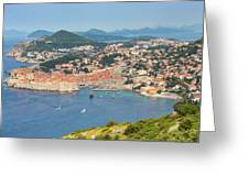 Dubrovnik, Croatia. Overall View Of Old Greeting Card