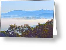 Early Morning On Blue Ridge Parkway Greeting Card