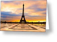 Eiffel Tower - Paris Greeting Card