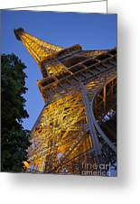 Eiffel Twilight Greeting Card