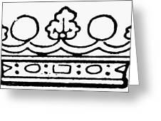 English Crown Greeting Card