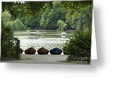 English Garden Munich Germany Greeting Card
