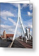 Erasmus Bridge In Rotterdam Greeting Card