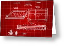 Etch A Sketch Patent 1959 - Red Greeting Card