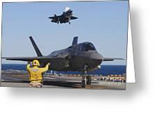 F-35b Lighnting II Variants Land Aboard Greeting Card