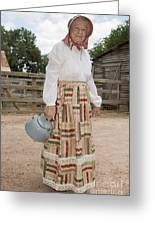 Farm Woman  Greeting Card