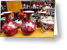 Feira De Porcelano Chinesa Greeting Card