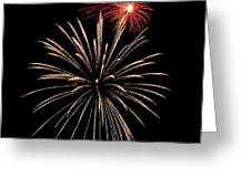 Fire Works Greeting Card by Devinder Sangha