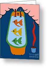 3 Fish In A Tub Greeting Card