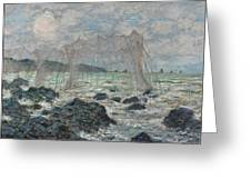 Fishing Nets At Pourville Greeting Card
