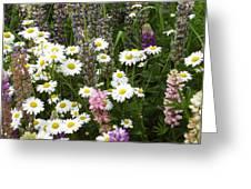 Flower Garden Greeting Card by Yvette Pichette