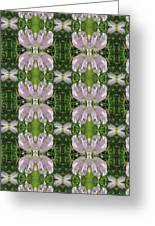 Flowers From Cherryhill Nj America Silken Sparkle Purple Tone Graphically Enhanced Innovative Patter Greeting Card