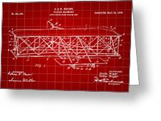 Flying Machine Patent 1903 - Red Greeting Card