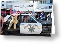 Ford Diplomat Police Car Greeting Card