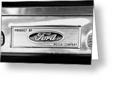 Powered By Ford Emblem -0307bw Greeting Card